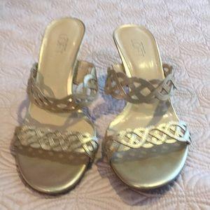 Ann Taylor Loft  braided heels